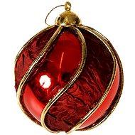 EverGreen Retro Gömbök, átmérő 10 cm, piros - Karácsonyi díszítés