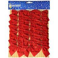 EverGreen bársony masni x 24, 5,5 x 5,5 cm, piros - Karácsonyi díszítés