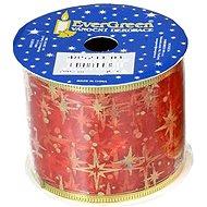 EverGreen Szalag mintával, sz. 6 cm, h. 2 m, piros - Karácsonyi díszítés