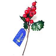 EverGreen bogyós leszúrható dísz, 3 levél, 20 cm, zöld-piros - Karácsonyi díszítés