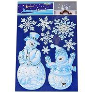 EverGreen Glitter ablakdísz 41x28, fehér - Karácsonyi díszítés