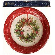 EverGreen Papír tányérok, átmérő 23 cm, 12 db, piros - Karácsonyi díszítés