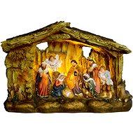 EverGreen Világító Betlehem, 3x LED, 21x8x14, többszínű - Karácsonyi díszítés