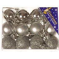 EverGreen® Gömb x 24 db, átmérője 3 cm, színe ezüst - Karácsonyi díszítés