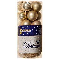 EverGreen® labda x 24 db, átmérő 4 cm, pezsgős színű - Karácsonyi díszítés
