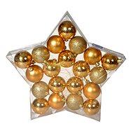 EverGreen® Gömb x 20 db, 3 fajta, átmérője 6 cm, színe arany - Karácsonyi díszítés