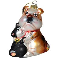 EverGreen® kutya és macska, doboz, h.11cm - Karácsonyi díszítés