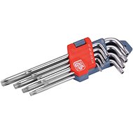 EXTOL PREMIUM L-kulcsok TORX, 9 db-os készlet, 10-50 mm - Torx készlet