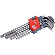 EXTOL PREMIUM L-kulcsok IMBUSZ, 9 db-os készlet, 1,5-10 mm, Bondhus-golyóval, - Imbuszkulcs készlet
