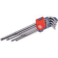 TORX EXTOL PREMIUM L-kulcsok, 9db készlet, T10-50mm - Torx készlet