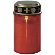 EMOS LED hřbitovní svíčka červená, 2x C, venkovní i vnitřní, teplá bílá, senzor - Svíčka