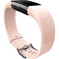 FitBit Charge 2 Leather Band Blush Pink Large - Szíj