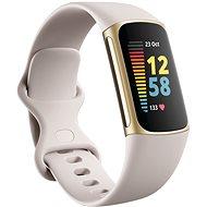 Fitbit Charge 5 Lunar White / Soft Gold rozsdamentes acél - Okoskarkötő