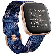 Fitbit Versa 2 Special Edition (NFC) - Navy & Pink Woven - Sportóra