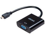 AKASA Micro HDMI - VGA Adapter / AK-CBHD21-15BK - Átalakító