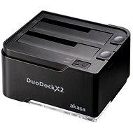 AKASA DuoDock X2, fekete - Külső dokkoló