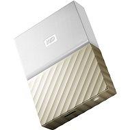 """WD 2.5"""" My Passport Ultra Metal 2TB, fehér-arany, slim - Külső merevlemez"""