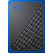 WD My Passport GO SSD 500GB, kék - Külső meghajtó