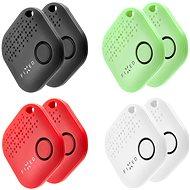 FIXED Smile 8-PACK (2x fekete, 2x fehér, 2x piros, 2x zöld) - Bluetooth kulcskereső
