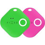 FIXED Smile mozgásérzékelővel, DUO PACK - zöld + rózsaszín