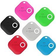 FIXED Smile 6-PACK mozgásérzékelővel, fekete, szürke, piros, kék, zöld, rózsaszín - Bluetooth kulcskereső