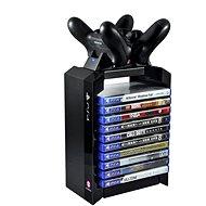 Numskull PlayStation 4 prémium torony + kettős töltő - Tartó
