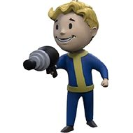 Fallout Vault Boy 3D - Energy Weapon - kulcstartó - Zseblámpa kulcstartó