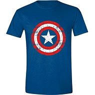Captain America Cracked Shield - póló, XXL-es - Póló