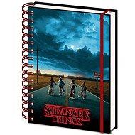 Stranger Things - Mind Flayer - spirálkötésű jegyzetfüzet - Jegyzetfüzet