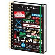 Friends - Infographic - spirálkötésű jegyzetfüzet - Jegyzetfüzet