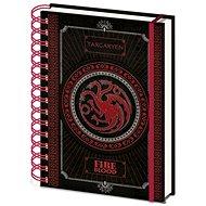 Trónok játék - Targaryen - spirálkötésű jegyzetfüzet - Jegyzetfüzet
