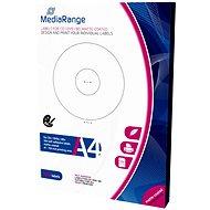 MediaRange CD / DVD / Blu-ray címkék, 41 mm - 118 mm, fehér - Matrica