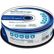 MediaRange BD-R (HTL) 25GB, Inkjet Printable, 25db cakebox - Média