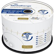 MEDIARANGE CD-R Medical 700MB 48x spindl 50db tintasugaras nyomtatható - Média