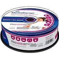 MediaRange Audio CD-R Inkjet Printable Fullsurface 25db cakebox