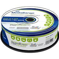MediaRange DVD-R Waterguard Inkjet Fullprintable - 25 db-os cakebox - Média
