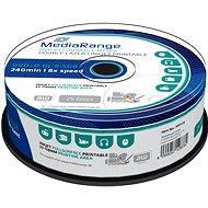 MediaRange DVD + R Dual Layer 8,5 gigabájt Injekt nyomtatható, 25 darab - Média