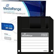 "MediaRange 3.5""/1.44MB, 10db-os csomag, műanyag - Floppy lemez"