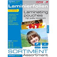 Lamináló fólia GENIE A4, A5, A6, 95 x 60 mm / 160 fényes - 100 db-os csomag - Laminovací fólie