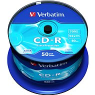 Verbatim CD-R 52x, DataLife Protection, 50 db, hengeres dobozban - Média
