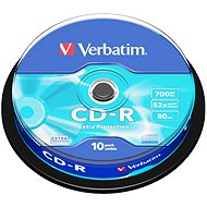Verbatim CD-R DataLife Protection 52x, 10 db cakebox - Média