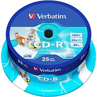 A Verbatim CD-R 52x Pirate Island Protection, nyomtatható 25db henger - Média