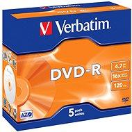 Verbatim DVD-R 4,7 GB 16x írási sebesség, 5 db, tokban - Média