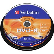 Verbatim DVD-R 16x, 10db cakebox