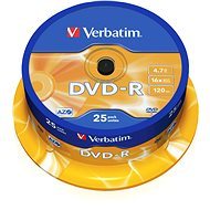 Verbatim DVD-R 4,7 GB, 16x, 25 db-os cakebox