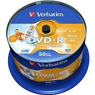 Verbatim DVD-R 16x nyomtatható 50ks cakebox - DVD-R