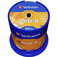 Verbatim DVD-R 16x, 100 db, cakebox - Média