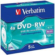 Verbatim DVD-RW 4x, 5 db - tokokban - Média