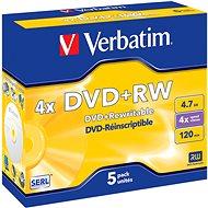 Verbatim DVD+RW 4x, 5 db - tokokban - Média