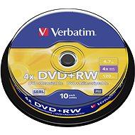 Verbatim DVD+RW 4x, 10 db/henger - Média